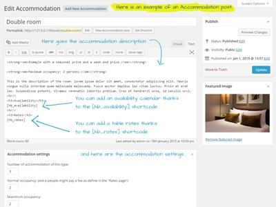Accommodation page small screenshoot